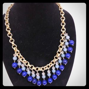 Blue and Gold costume necklace